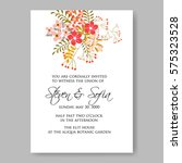 wedding invitation with red... | Shutterstock .eps vector #575323528
