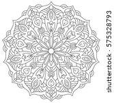 eastern ethnic mandala. round... | Shutterstock . vector #575328793