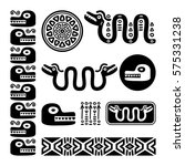 aztec animals  mayan snake ... | Shutterstock .eps vector #575331238