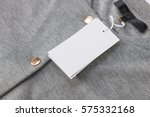 label and tag on gray bomber... | Shutterstock . vector #575332168