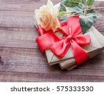 flowers and an envelope. | Shutterstock . vector #575333530