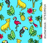 tropic seamless pattern with... | Shutterstock .eps vector #575339014