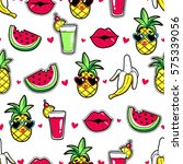tropic seamless pattern with... | Shutterstock .eps vector #575339056