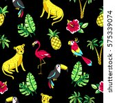 tropic seamless pattern with... | Shutterstock .eps vector #575339074