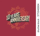10 years anniversary vector... | Shutterstock .eps vector #575340004