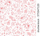 valentine background. love... | Shutterstock .eps vector #575347120