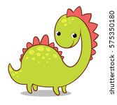 cute smiling dinosaur on a... | Shutterstock .eps vector #575350180