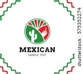 mexican logo design template.... | Shutterstock .eps vector #575352274