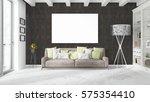 modern bright interior with... | Shutterstock . vector #575354410