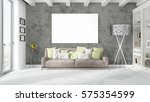 modern bright interior with... | Shutterstock . vector #575354599