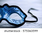 Closeup of an elegant blue and...