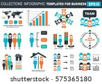 collection of infographic... | Shutterstock .eps vector #575365180