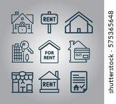 basic   real estate icons | Shutterstock .eps vector #575365648