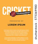 cricket tournament poster idea. ... | Shutterstock .eps vector #575369980