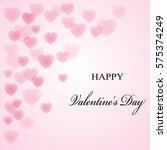 valentine's day postcard | Shutterstock .eps vector #575374249