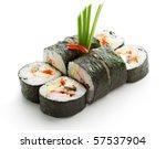 japanese cuisine   sushi roll... | Shutterstock . vector #57537904