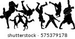 set of silhouettes of dancers...   Shutterstock .eps vector #575379178