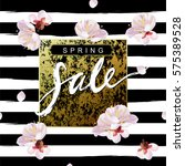 """spring sale"" hand written... | Shutterstock .eps vector #575389528"