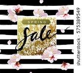 """spring sale"" hand written... | Shutterstock .eps vector #575389549"