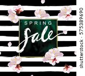 """spring sale"" hand written... | Shutterstock .eps vector #575389690"