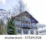 building in town of... | Shutterstock . vector #575391928