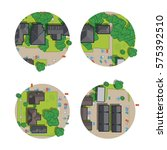 set of city  top view from the... | Shutterstock .eps vector #575392510