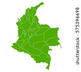 colombia green map | Shutterstock .eps vector #575396698