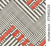 abstract striped geometric... | Shutterstock .eps vector #575403133