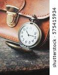vintage watch pocket with bag | Shutterstock . vector #575415934