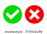 check mark and x mark icon... | Shutterstock .eps vector #575416198