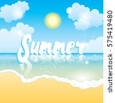 summer time sea view background.... | Shutterstock .eps vector #575419480