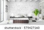 modern bright interior . 3d... | Shutterstock . vector #575427160