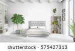 modern bright interior . 3d... | Shutterstock . vector #575427313