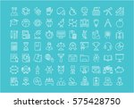 set vector line icons  sign and ... | Shutterstock .eps vector #575428750