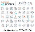 set vector line icons  sign and ... | Shutterstock .eps vector #575429104