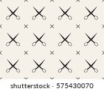 seamless pattern with scissors  ...