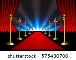 red carpet and rope barrier...   Shutterstock .eps vector #575430700