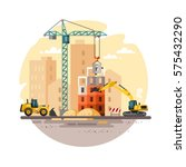 construction site  building a... | Shutterstock .eps vector #575432290