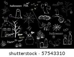 Halloween Drawings Elements