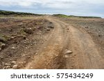 Rough Unmarked Dirt Road On Th...