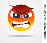 angry emoticon in a flat design   Shutterstock .eps vector #575434750