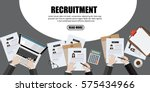 human resource or hr management ... | Shutterstock .eps vector #575434966