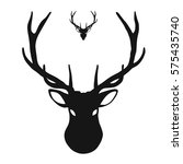 deer head icon  hand drawn... | Shutterstock .eps vector #575435740