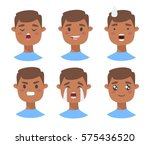 set of male emoji characters.... | Shutterstock .eps vector #575436520