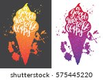 sweet summer hand drawn...   Shutterstock .eps vector #575445220