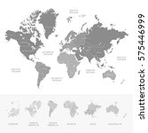 highly detailed world map... | Shutterstock .eps vector #575446999