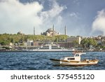 cityscape of istanbul with a... | Shutterstock . vector #575455120