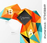 triangle mosaic vector abstract ... | Shutterstock .eps vector #575458849