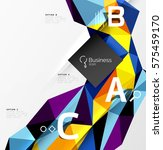 colorful triangle mosaic 3d... | Shutterstock .eps vector #575459170
