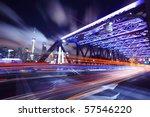 shanghai bridge traffic at night | Shutterstock . vector #57546220